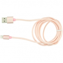 Кабель USB Rock Metal Charge & Sync Round Cable 180cm Lightning (Розовый)