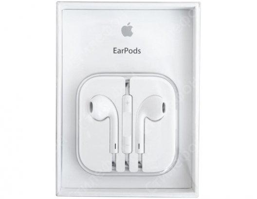 Наушники Apple EarPods с пультом дистанционного управления и микрофоном (Оригинал)
