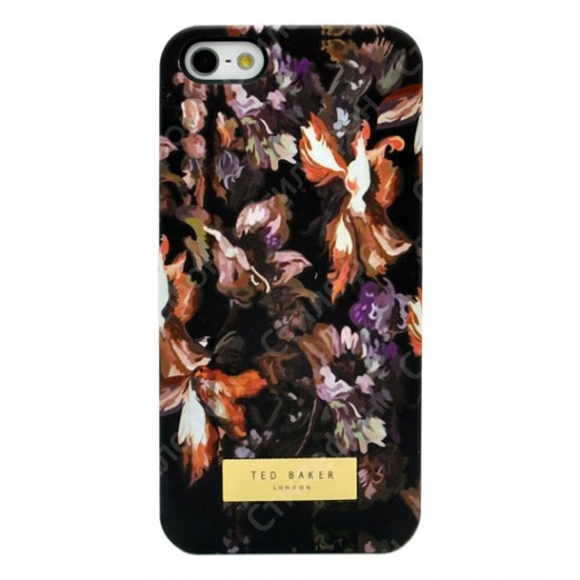 Чехол Ted Baker на iPhone 5 / 5s / SE (Black flowers)