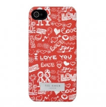 Чехол Ted Baker на iPhone 5 / 5s / SE (Love red)