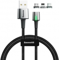 Магнитный кабель Baseus Zinc Magnetic Cable 2.4A 2 метра (iPhone / Micro USB)