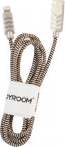 Joyroom Zinc Alloy Braided Lightning 1.2м S M327L (Золотой)