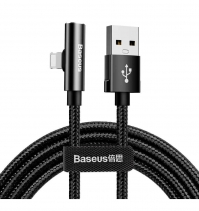 Кабель - переходник Baseus Rhythm Bent Connector Audio Cable 1.2м USB - Lightning CALLD-B01