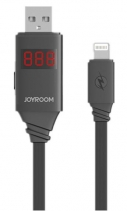 USB Кабель для iPhone Joyroom Automatic Intelligent Lightning Data Cable с дисплеем JR ZS200 (Черный)