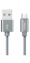 Кабель Rock Metal Micro USB Cable 100сm (Черный)