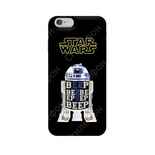 Чехол для iPhone 5s / 6s / 6s+ / 7 / 7+ / 8 / 8+ / Xs / 11 / Pro / Max (Star Wars R2D2)