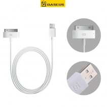 USB Кабель для iPhone 4 / 4s 30 pin Baseus 1.2M (Белый)