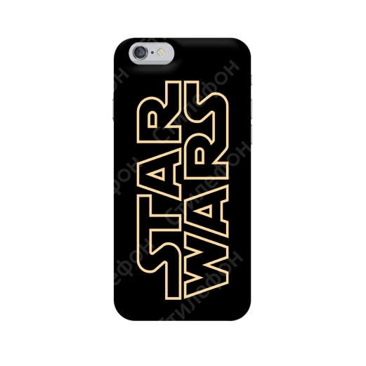 Чехол для iPhone 5s / 6s / 6s+ / 7 / 7+ / 8 / 8+ / Xs / 11 / Pro / Max (Star Wars Title)