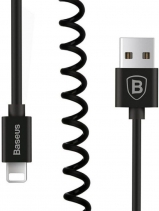 Витой кабель Baseus Elastic Data Cable 1.6m Lightning (Чёрный)