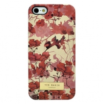Чехол Ted Baker на iPhone 5 / 5s / SE  (Red flowers)