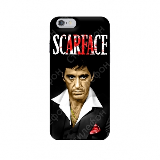 Чехол для iPhone 5s / 6s / 6s+ / 7 / 7+ / 8 / 8+ / Xs / 11 / Pro / Max (Scarface)