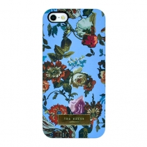 Чехол Ted Baker на iPhone 5 / 5s / SE (Flowers blue)